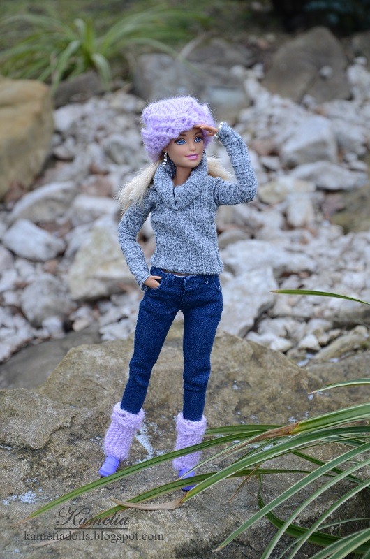 Handmade jeans for Barbie dolls.
