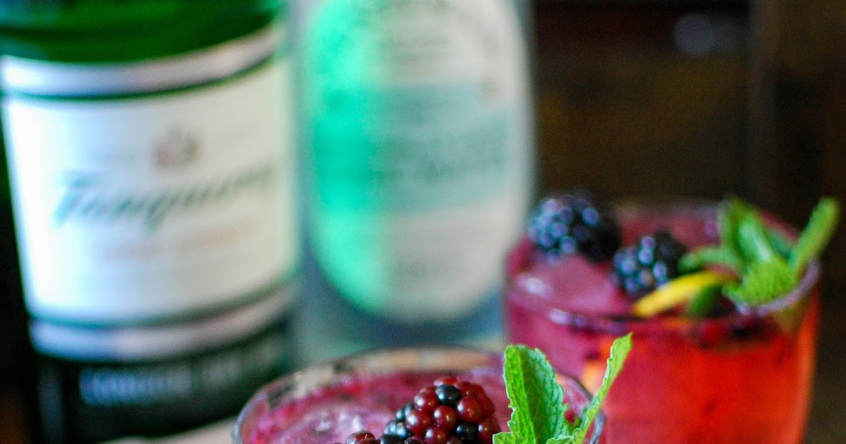 Blackberry and Lemon Gin and Tonic | Katiecakes