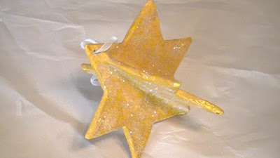 Little Glittery Paper Mache Star