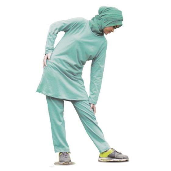Baju Olahraga Wanita Lengan Panjang Qirani