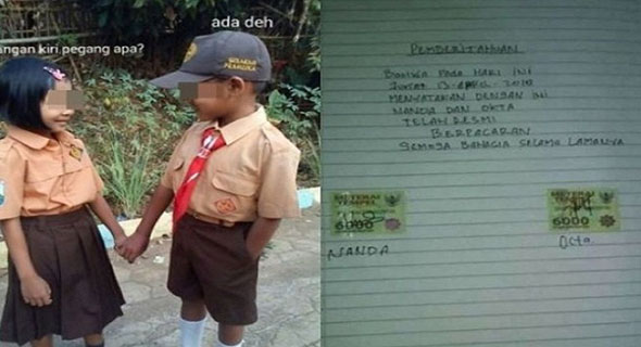 Korban Dilan, Anak SD Buat Surat Keterangan Status Dengan Materai