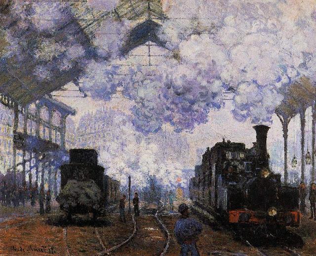 Monet et la Gare Saint Lazare 2%2BLa%2Bgare%2BSaint%2BLazare%252C%2Barrive%25CC%2581e%2Bd%2527un%2Btrain%2BClaude%2BMonet%2B1877