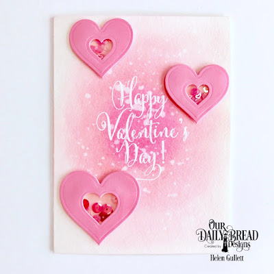 Our Daily Bread Designs Stamp Set: Happy Valentine's Day, Custom Dies: Layering Hearts