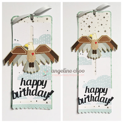 SVG Attic: Soaring Eagle with Angeline #svgattic #scrappyscrappy #birthday #eagle #card