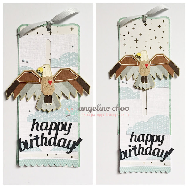 ScrappyScrappy: Soaring Eagle birthday card #svgattic #scrappyscrappy #birthday #eagle #card