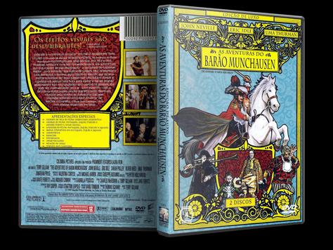 Capa DVD As Aventuras do Barão de Munchausen