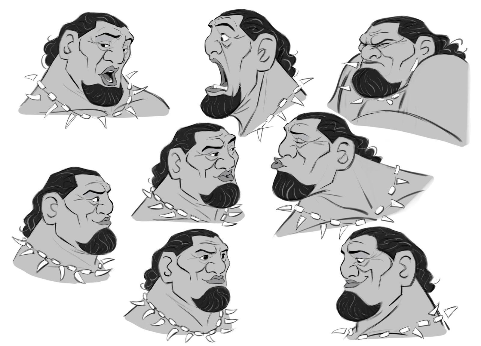 how to draw moana face
