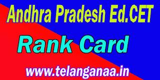 Andhra Pradesh AP Ed.Cet RankCard APEd.Cet Rank Card