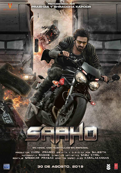 Poster of Saaho (2019) Full Movie [Hindi-Cleaned] 720p HDRip ESubs Download