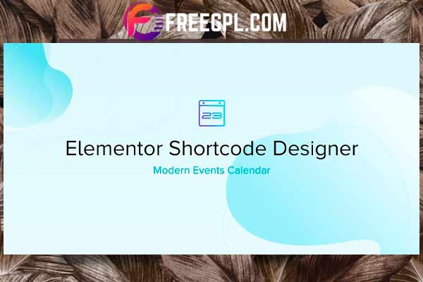 Elementor Shortcode Designer Addon for MEC Free Download