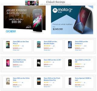 Amazon 48 Hour Unlocked Smartphone Sale