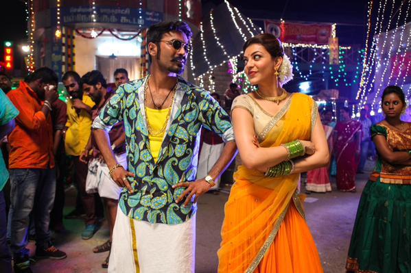 Dhanush with Kajol in Maari