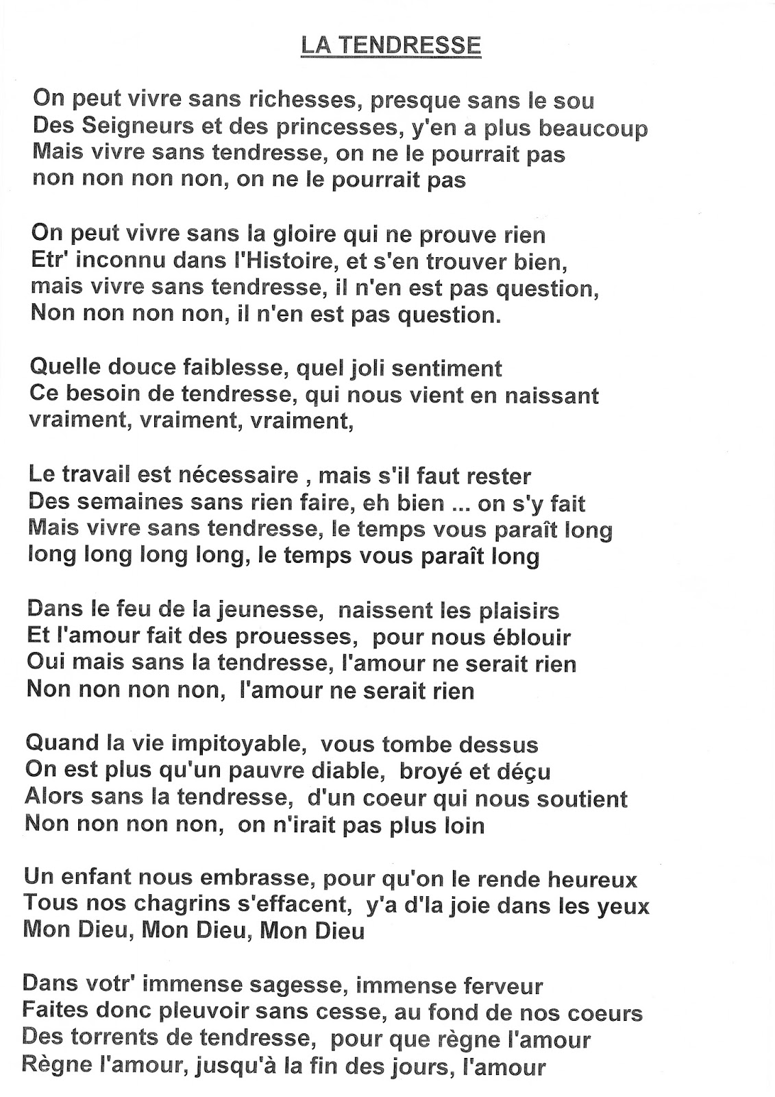 Paroles Cats And Dogs