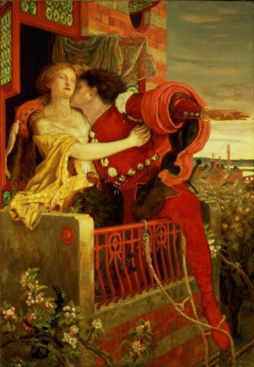 Romeu e Julieta, pintura de Ford Madox Brown.