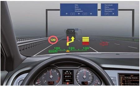 Penerapan transparent OLED sebagai Heads-Up display pada kaca depan mobil