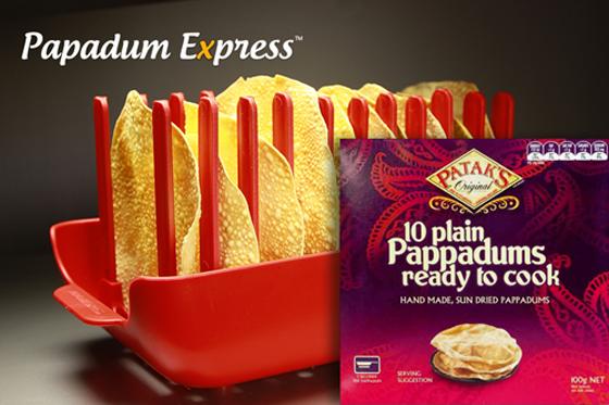 Papadum Express® - Patak's Pappadums. Microwave cook 5 in 60 seconds!