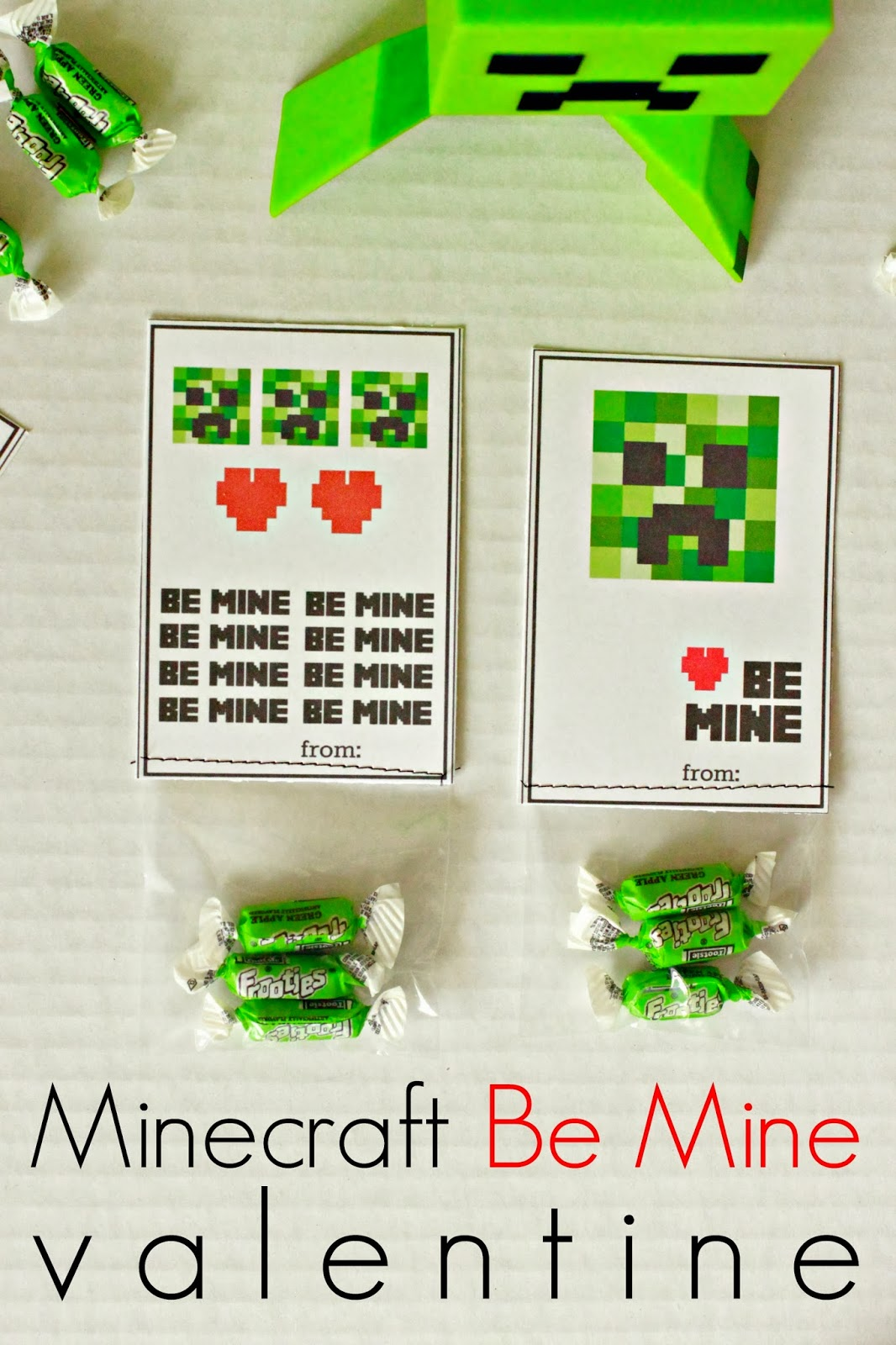 photo about Minecraft Printable Valentines known as Larissa An additional Working day: Minecraft Be Mine Valentines (printable)