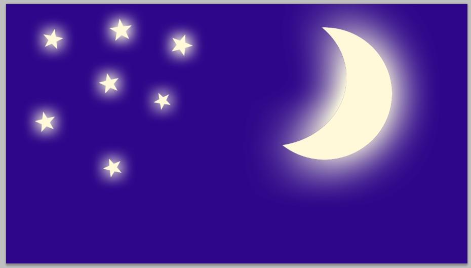 Tutorial Photoshop Dasar Membuat Ilustrasi Bulan Sabit Dengan