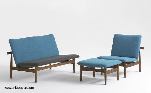 Juego de sillones modernos de diseño danés