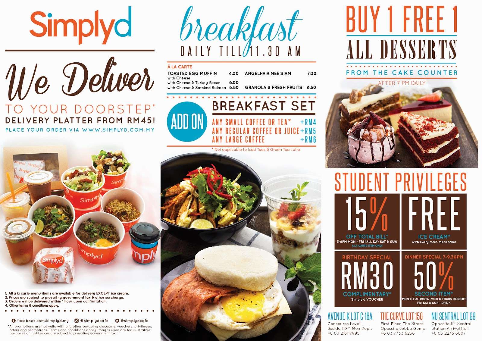 Menu Simplyd Cafe