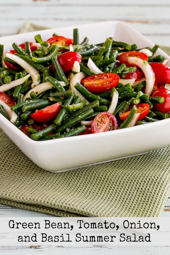 Green Bean, Tomato, Onion, and Basil Summer Salad - blogs de Recipes