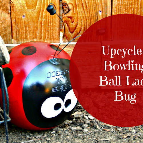 Upcycled Bowling Ball Yard Art - Weekend Yard Work Series