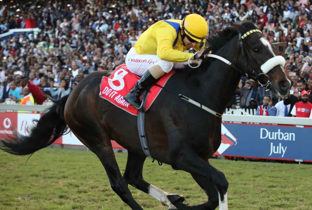 Do It Again - Horse - Winning the Vodacom Durban July - Jockey is Anton Marcus