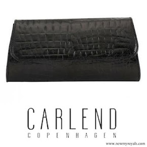 Princess Marie Carried CARLEND COPENHAGEN Aicha croco clutch