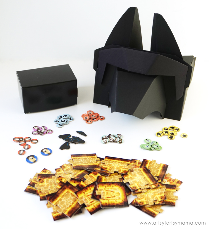 Play Mask of the Pharaoh for Family Game Night with Hasbro Gaming Crate #HasbroGamingCrate