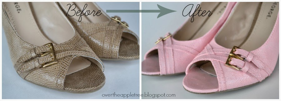 Paint Shoes for Spring by Over The Apple Tree