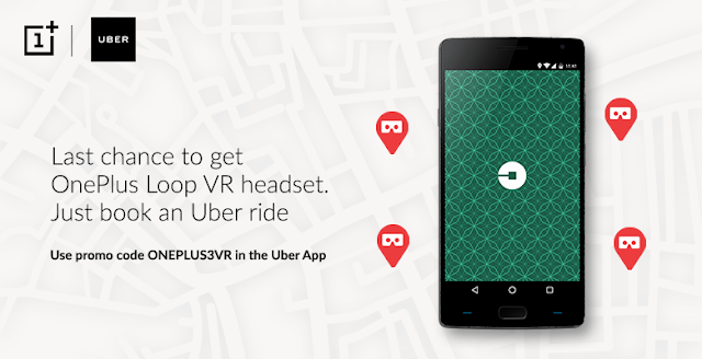 OnePLUS VR LOOP Giveaway with Uber Ride