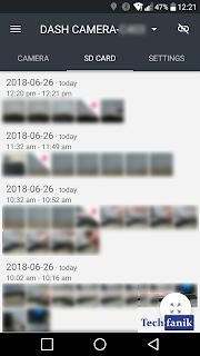 yi dash camera podgląd nagrań w aplikacji