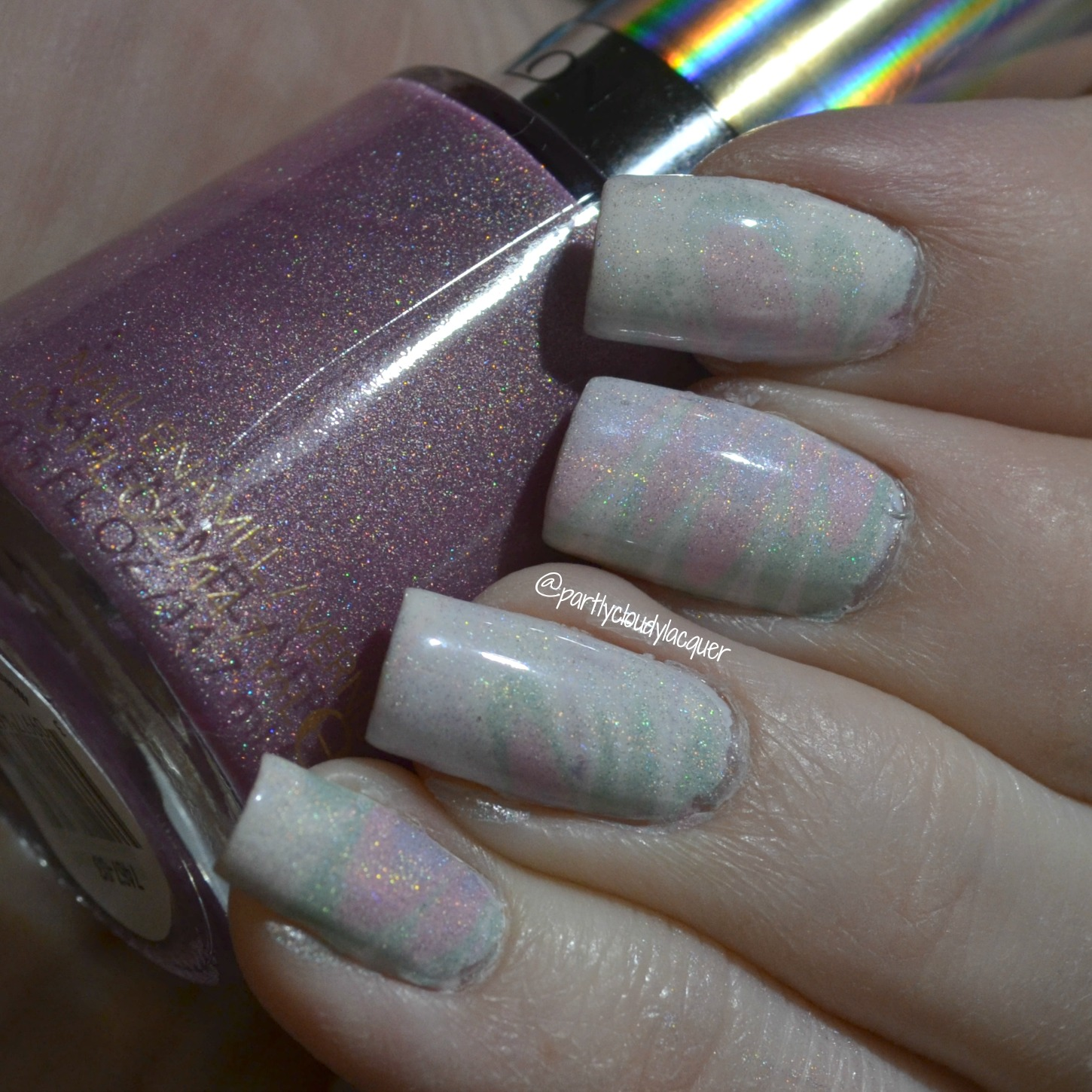 Pastel Holographic Watermarble - Revlon HoloChrome Polishes | Partly ...