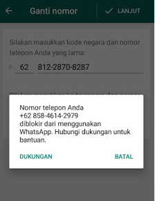 Cara Mengatasi Nomor Telepon Anda Diblokir Dari Menggunakan Whatsapp
