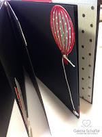 wykrojnik balon baloon die cut scrapbook album handmade by galeria schaffar