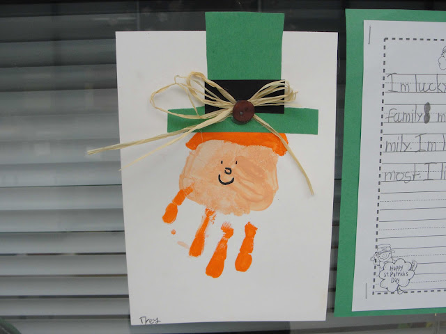 leprechaun handprint art