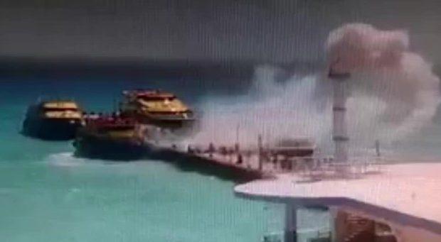 Η στιγμή της έκρηξης σε φέρι-μποτ γεμάτο με τουρίστες -Βίντεο