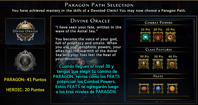 Paragon - Powers y Feats Neverwinter - Charkleons.com