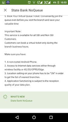 SBI NoQueue Details