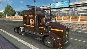 Kenworth T800 UPS Freight skin