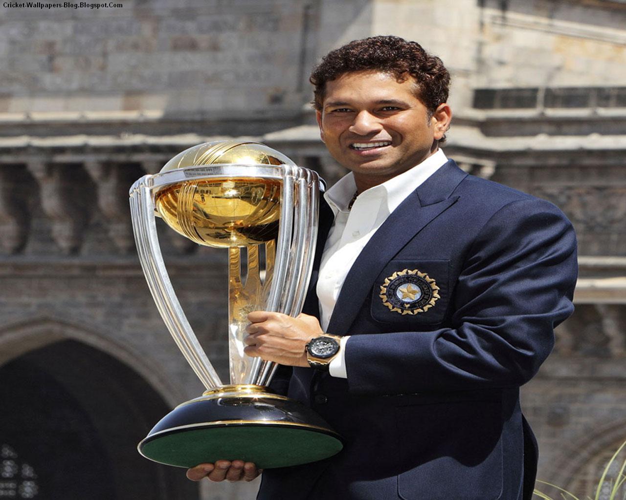 Cricket Wallpapers Sachin Tendulkar With World Cup Wallpapers