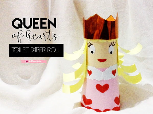 DIY Craft: Queen of Hearts Doll from Toilet Paper Roll
