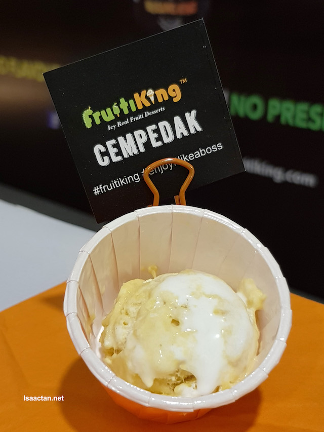 Cempedak ice cream, loads of real fruit taste!
