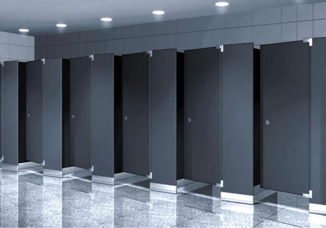 vách ngăn vệ sinh phù hợp với nhiều không gian công trình phụ hiện đại