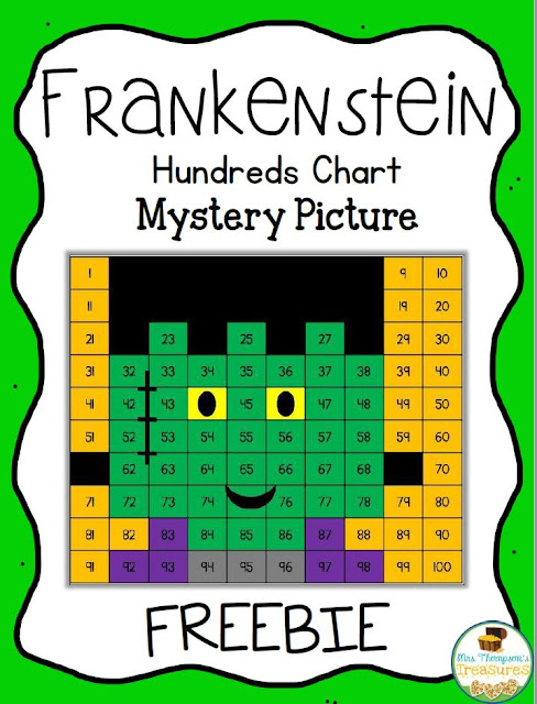 Free Frankenstein Hundreds Chart Mystery Picture - Mrs Thompson\u0027s - hundreds chart