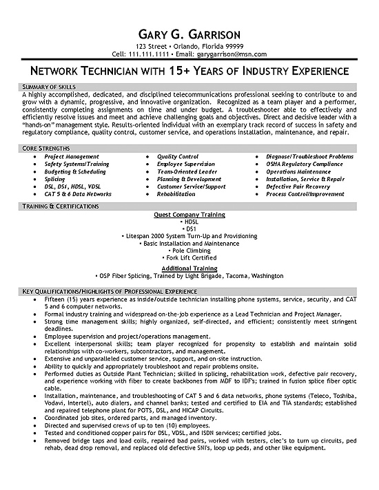 sample telecommunications consultant resumes - zrom