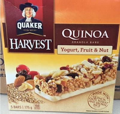 Product Recall Quaker Harvest Quinoa Granola Bars