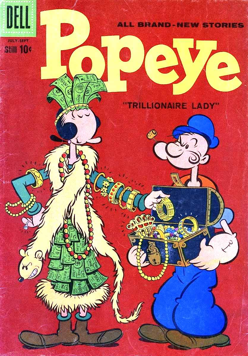 a 1960s Popeye comic book by Bud Sagendorf