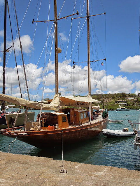 Antigua sailboat