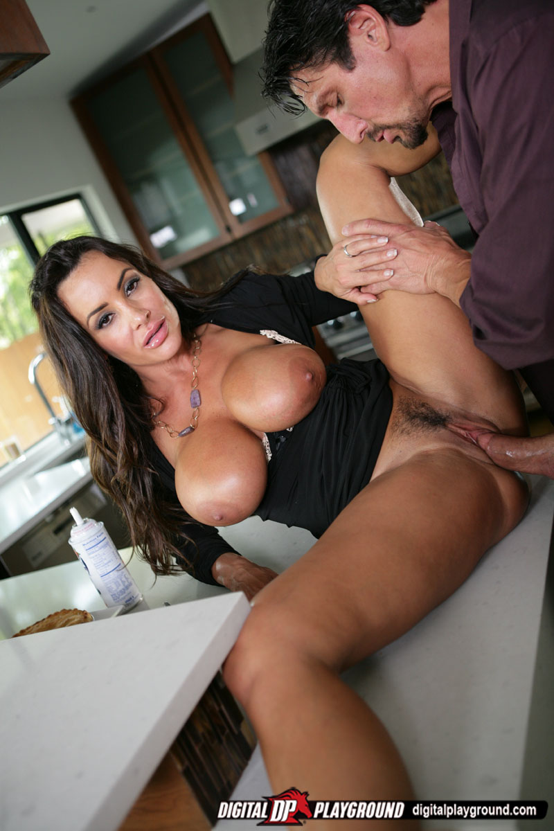 Lisa Ann bangs her hubby in her kitchen  Naked Babes